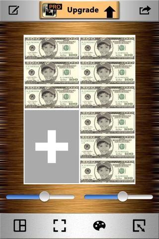 Reemplazar con / añadir el collage de tres factura que acaba de guardar, a las ranuras.