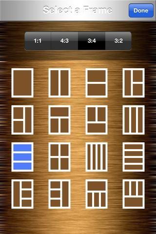 Seleccione el marco del collage bajo 3: 4 que tiene tres ranuras rectángulo horizontal para su dinero foto.