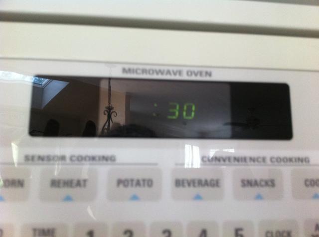 Establecer un temporizador durante 30 segundos y mezcla