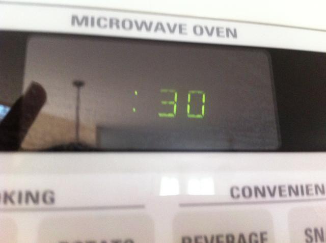 Temporizador Ajuste por 30 segundos de nuevo y mezcla
