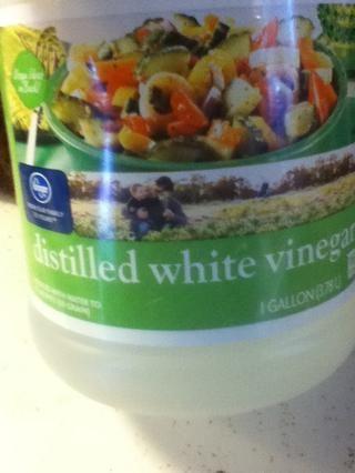 Salga de su vinagre blanco.