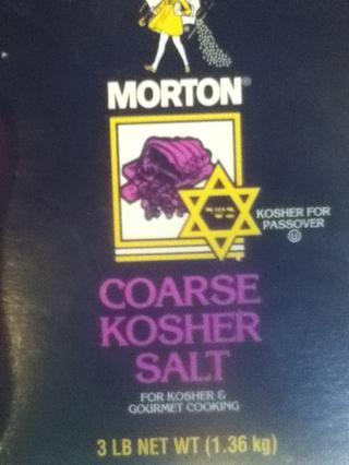 Obtenga su sal kosher de su elección.