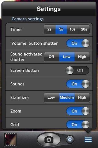 Encienda el sonido del obturador activado en la configuración