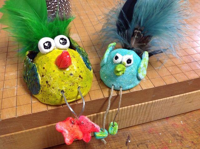 Cómo hacer Pinch-Pot pájaro Esculturas