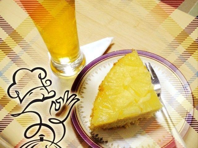 Cómo hacer piña Receta de la torta al revés