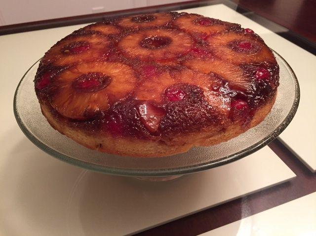 Cómo hacer piña Nogal revés receta de la torta