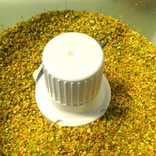 Proceso en alto hasta que el pistacho se vea granulada.
