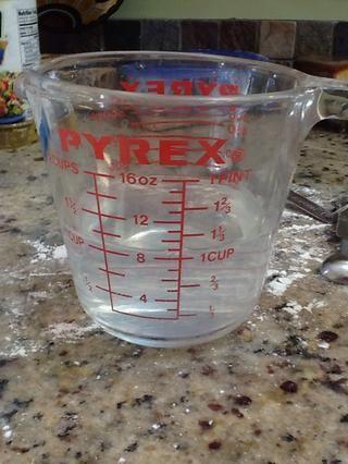 1 taza de agua tibia
