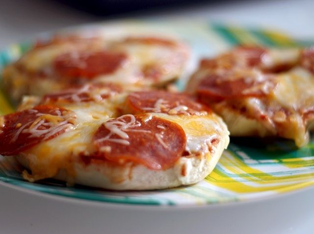 Cómo hacer pizza Bagels Receta