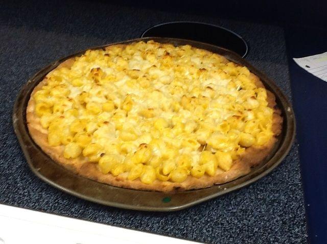 Cómo hacer pizza Mac N Queso Receta