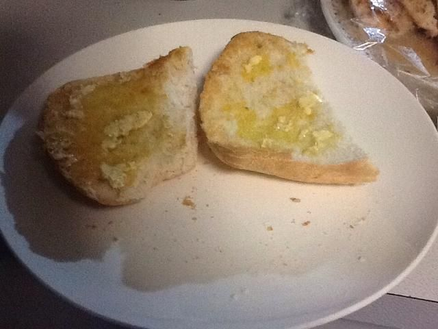Pan de mantequilla (yo usé la margarina)