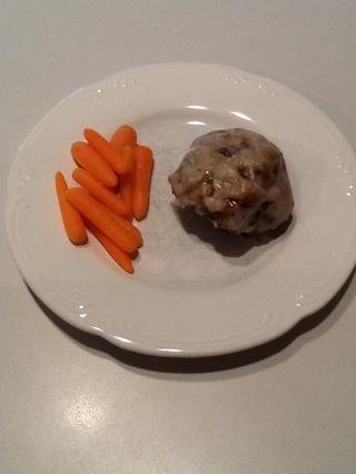 Retire las empanadas de hornear pan. Servir y disfrutar! (Zanahorias opcionales!)