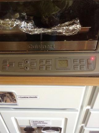 Coloque las setas de nuevo en el horno durante 3 minutos.