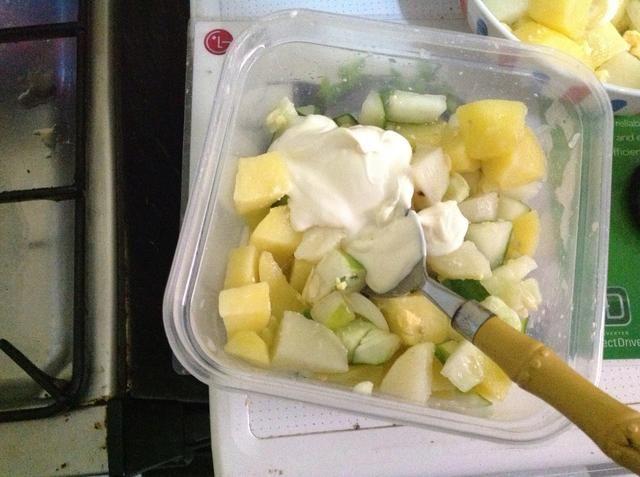 Agregue un poco de mayonesa