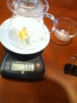 Añadir 60grams de agua justo antes de la ebullición.