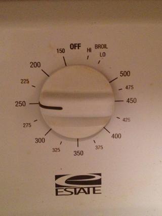 Al día siguiente, establezca el horno a 250 grados F