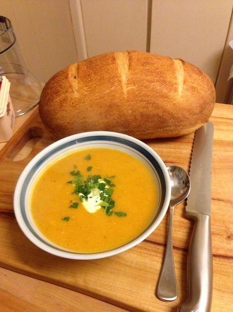 Cómo hacer calabaza y batata receta de la sopa