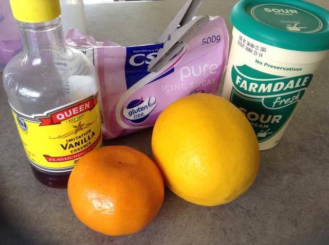 Reunir los ingredientes para el relleno