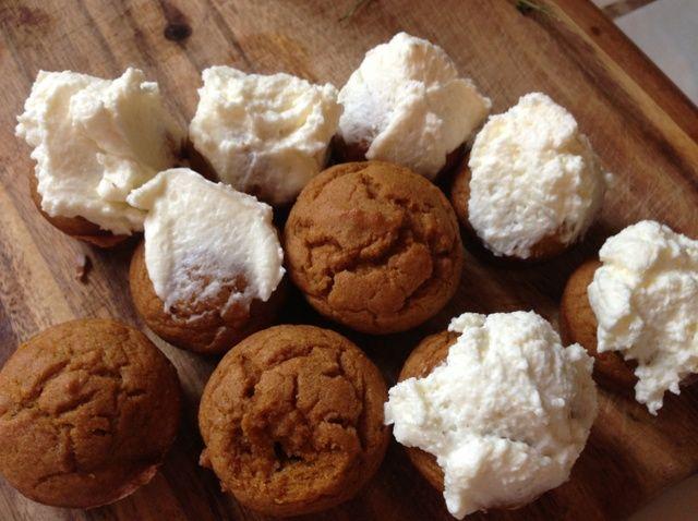 Cómo hacer magdalenas de calabaza con glaseado de queso crema (GF) Receta