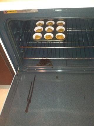 Deslice en el molde para muffins