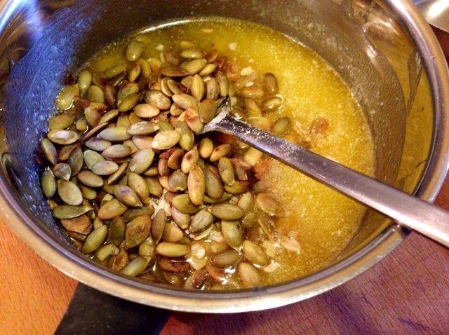 Cómo hacer de semilla de calabaza de Apple Crumble Receta