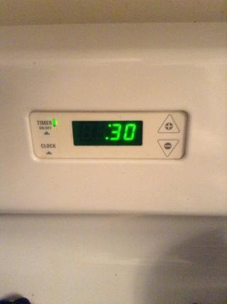 Poner el contador de tiempo en el horno a 30 minutos