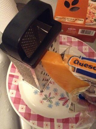 Rallar el queso y dejar de lado