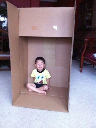 Vamos a cortar una apertura para las puertas en el lado largo de la abertura de la caja.