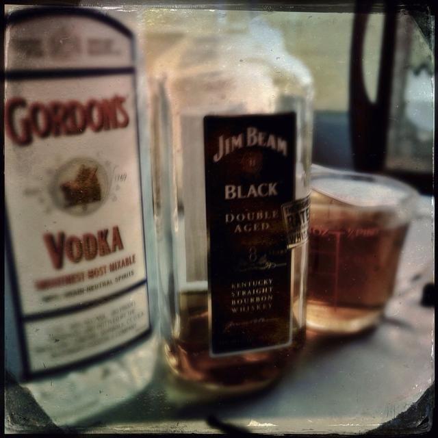La mayoría de la gente utiliza estrictamente Vodka menos costoso pero'm picky so I chose my favorite mid range alcohols. I'm using Bourbon and Vodka, but in separate batches. My Bourbon Vanilla is great for cookies.