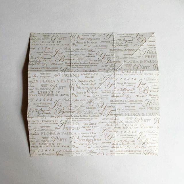 Da la vuelta al papel a la otra cara del papel patrón ...