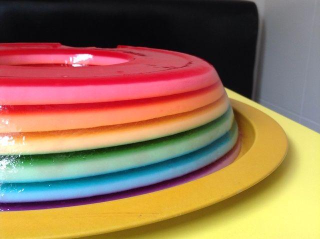 Cómo hacer Rainbow Jello Receta