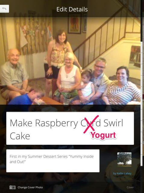 Cómo hacer Raspberry Swirl Cuajada Receta de la torta
