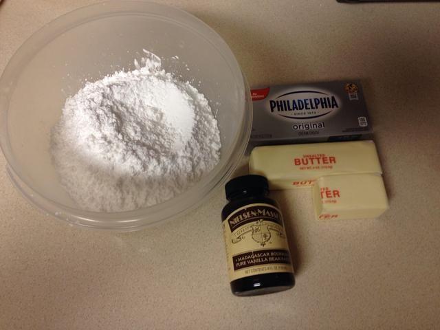 Estos son los ingredientes para el glaseado