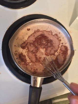 Ahora, la mitad de la bolsa de chocolate caliente (que utiliza After Eight's dark chocolate peppermint, any mix is just as good!)