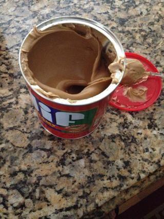 Mantequilla de maní 1 taza. Batir bien