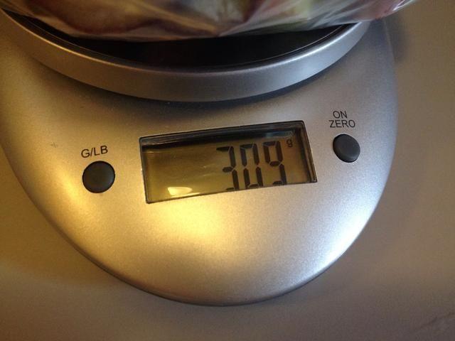Debe ser 300 gramos ...