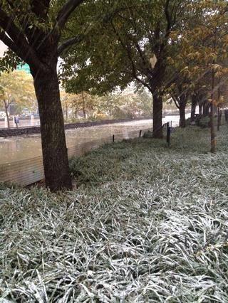 Nevando.
