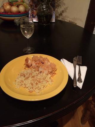 Servir con arroz pilaf