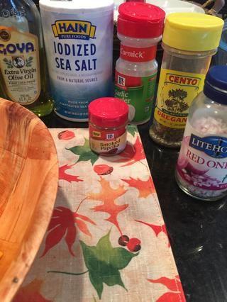 Establecer todos los ingredientes a la mano.