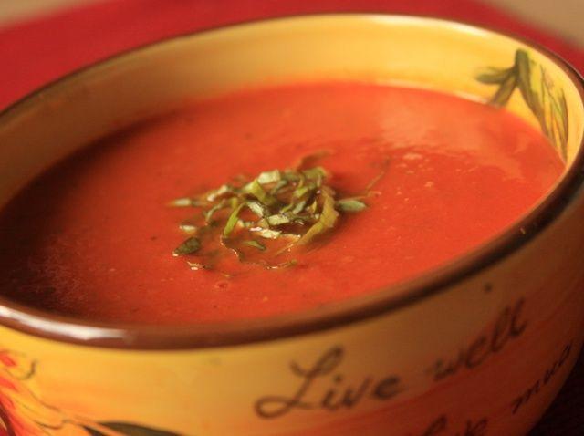 Cómo hacer asado sopa de tomate Receta