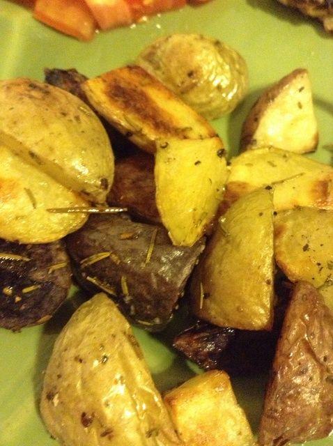 Cómo hacer Rosemary asó Patatas Receta