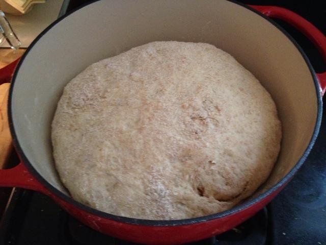 La masa es ahora grande y listo para entrar en el horno. Asegúrese de que usted no't expose it to cold air/draft.