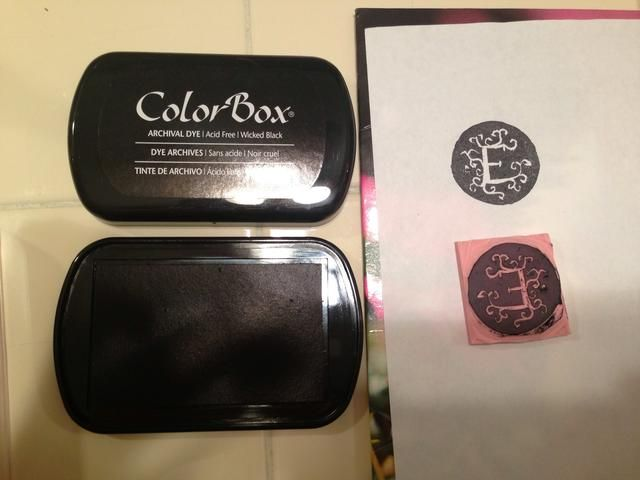 Cuando tú're ready to test it, stamp it on an ink pad and try it out. You can cut away any extra marks you don't want.
