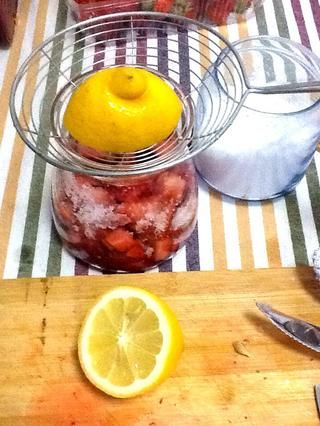 Añadir en 1/3 de jugo de limón si desea que el sabor fresco.