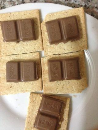 Plaza Top Graham Craker con el chocolate