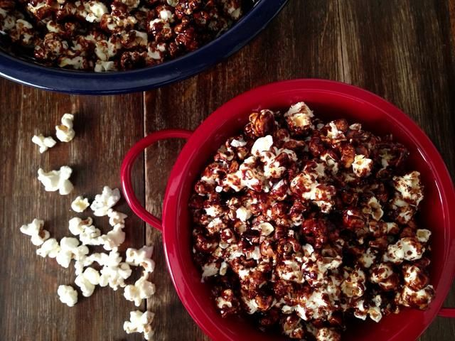 Don't put hot caramel popcorn in your mouth! Wait until cool to get piggy. Try not to gobble it all up though - you're about to take these gems to another level! P.S. you'll have popcorn leftover.