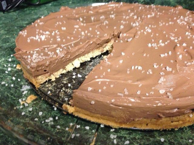 La corteza de galletas blandas va perfectamente con la mousse de chocolate ...