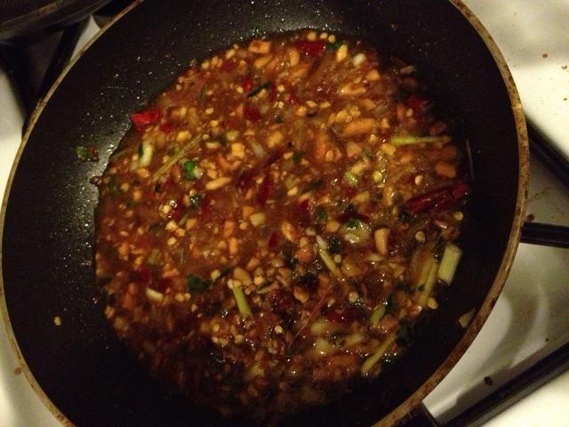 La salsa se resultó delicioso! No es como la salsa satay Malasia pero más tipo teriyaki de salsa.