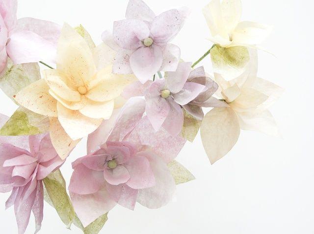 Cómo hacer flores de papel perfumado con David's Tea Paints