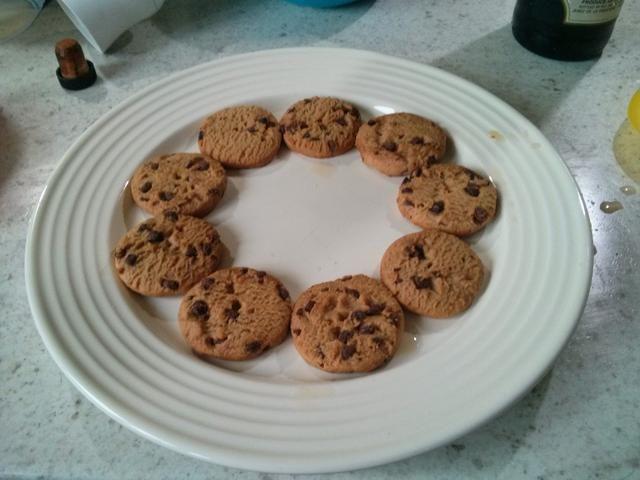 Hacer un anillo de jerez empapado cookies.